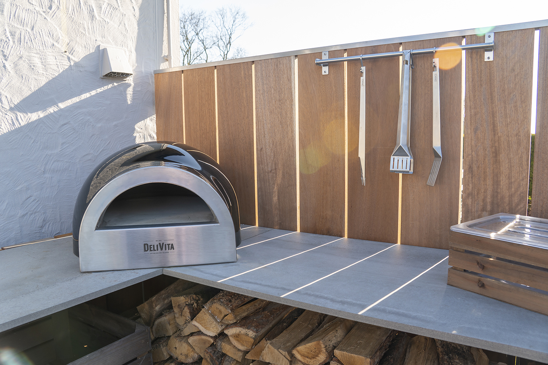 Delivita pizza oven on the corner of Grillo kitchen