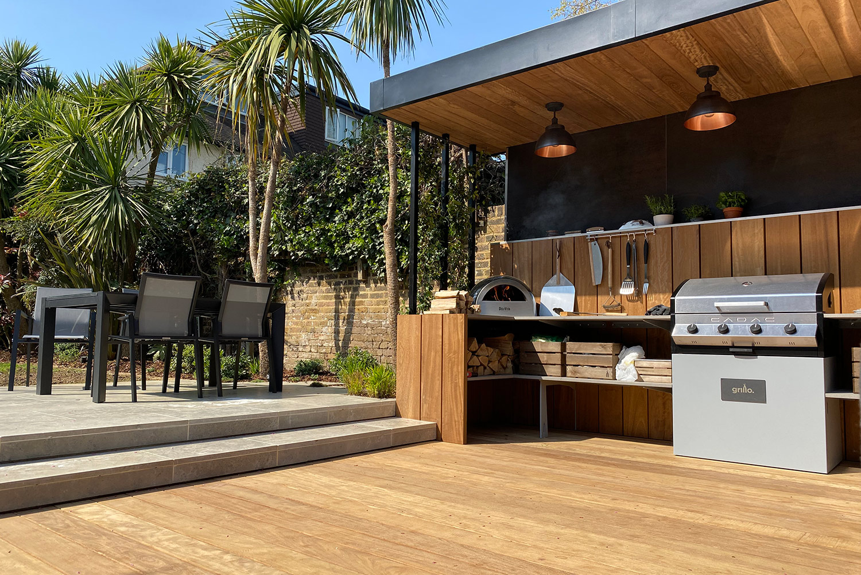 Grillo kitchen shallow L shape Chiswick project Cadac Pizza oven
