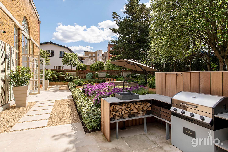 Grillo Kitchen Regents bridge gardens with Cadac BBQ and sink