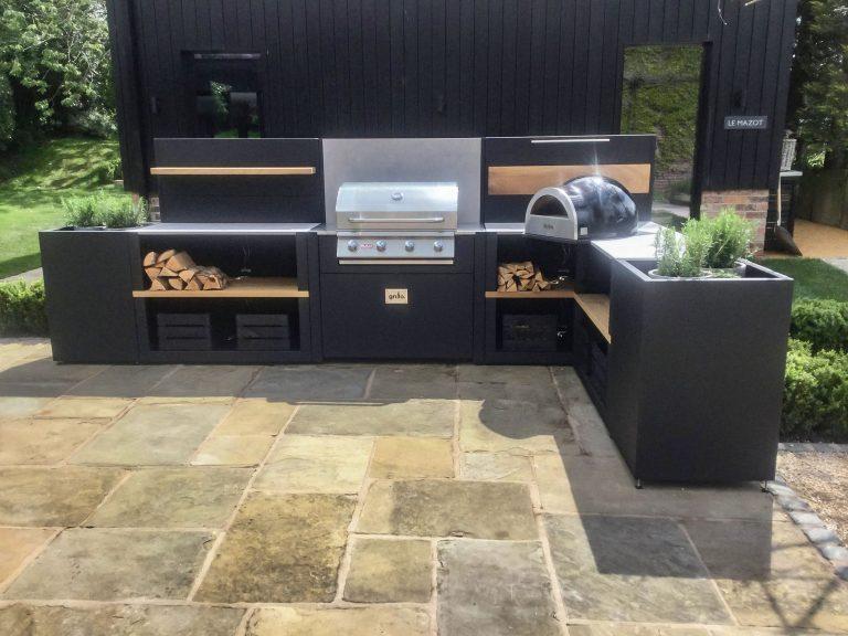 Outdoor kitchen design Project 29847 Vantage Delivita L shaped